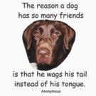 A Dog Has Friends by Allen Lucas