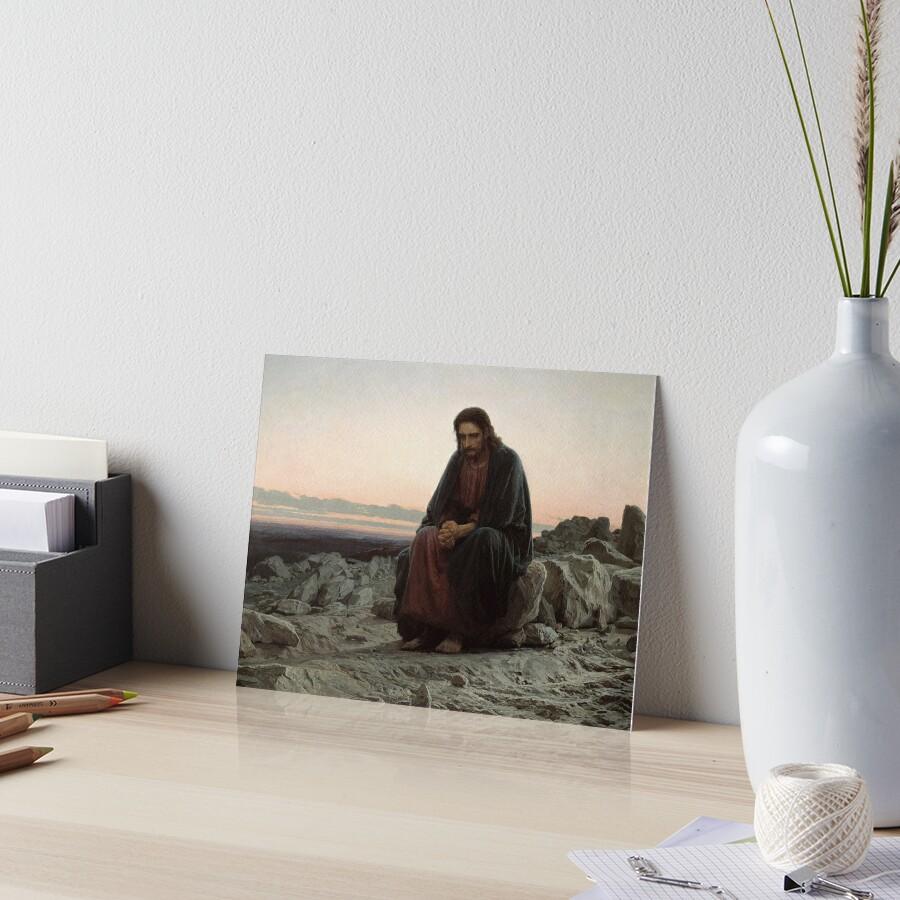 Christ in the Desert - Ivan Kramskoi Art Board Print