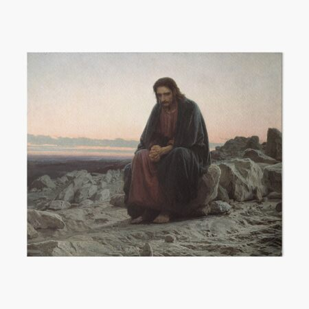 Christ in the Desert - Ivan Kramskoi Art Board Print