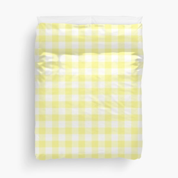 Sunny Yellow Gingham Checked Pattern Duvet Cover