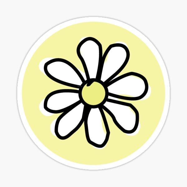 Yellow Flower Circle Sticker