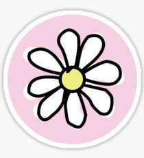 Pink Flower Circle Sticker