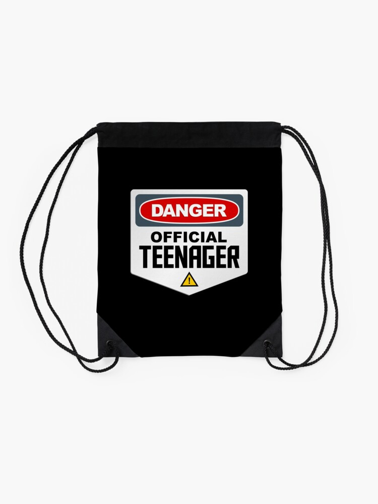 Alternate view of Danger Official Teenager Drawstring Bag