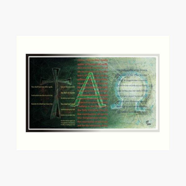tAO with text Art Print