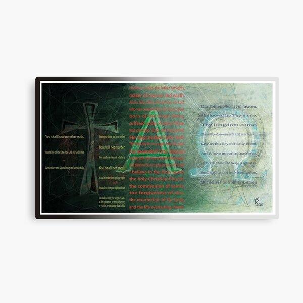 tAO with text Metal Print