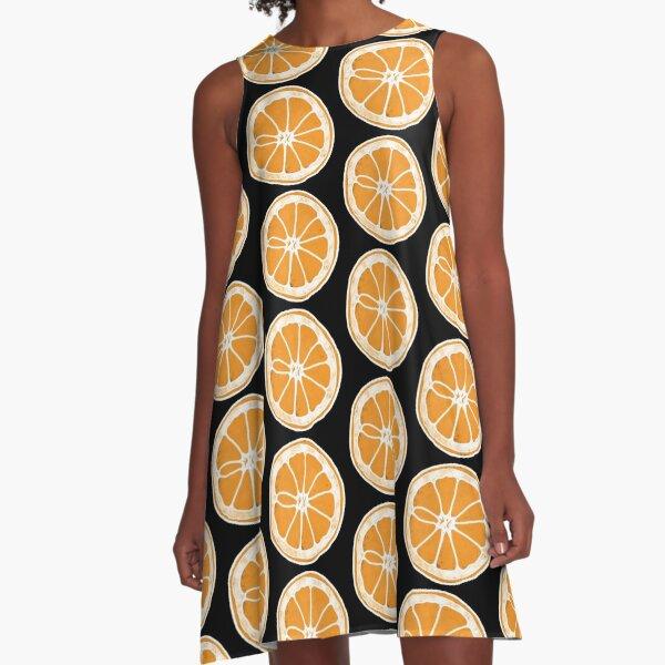 Orange A-Line Dress