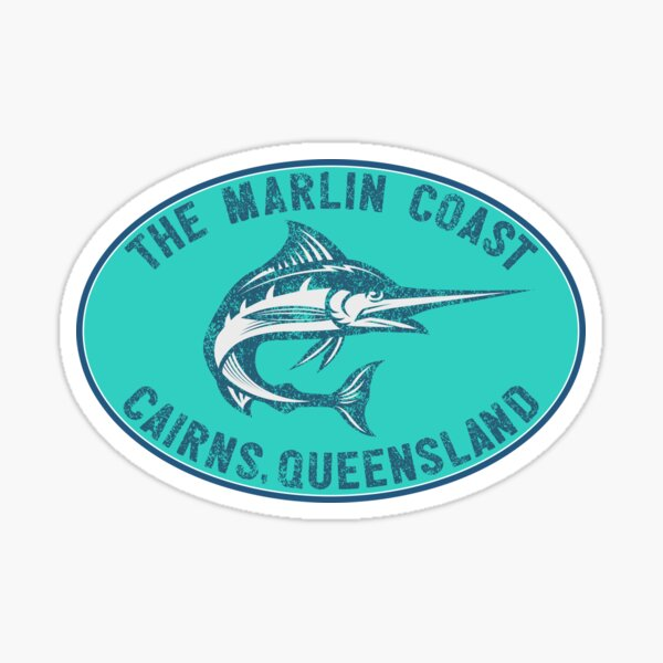 The Marlin Coast Cairns Queensland Australia Great Barrier Reef Coral Sea Sticker