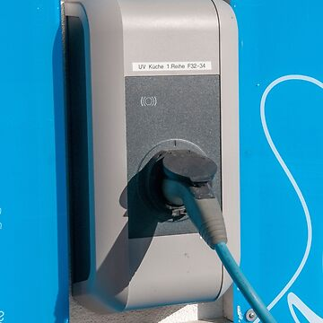 Electric car charging station photographed in Neustift, Stubai, Tyrol, Austria  by PhotoStock-Isra