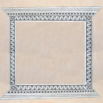 Intricate wall decoration repeating design as an empty square frame by PhotoStock-Isra
