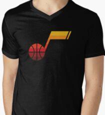 Utah Jazz Note T-Shirt mit V-Ausschnitt für Männer
