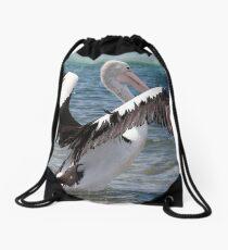 Pelican wings of beauty 555 Drawstring Bag