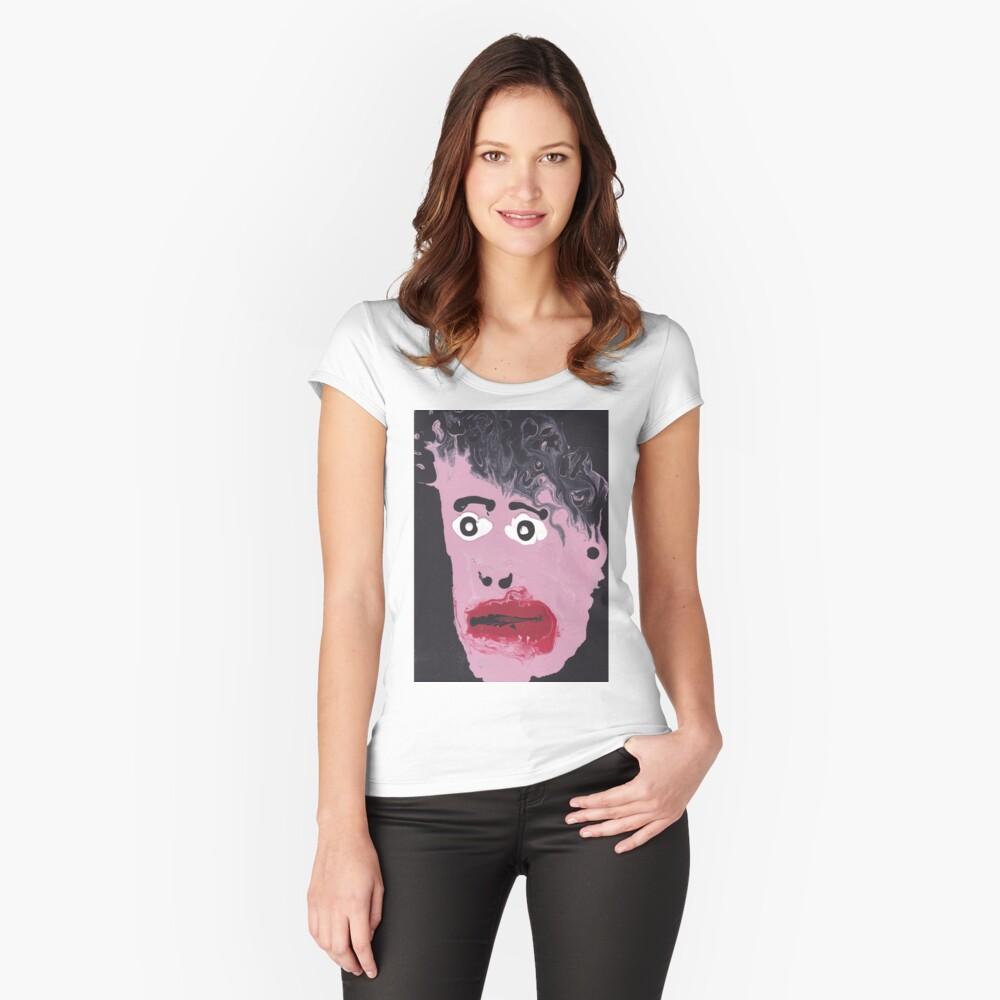 Devant T-shirt échancré femme ''Qui est-ce?'