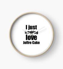 Joffre Cake Lover Gift I Love Dessert Funny Foodie Clock