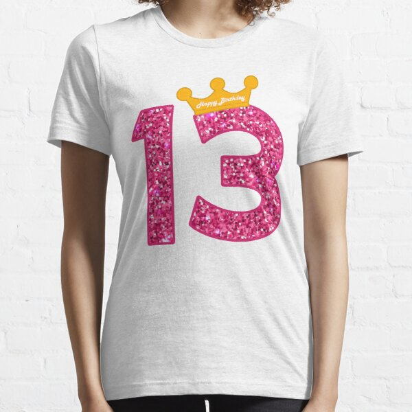 Happy Birthday Art, Girls 13th Party 13 Years Old Bday Essential T-Shirt