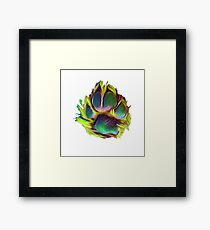 Dog paw dog Framed Print