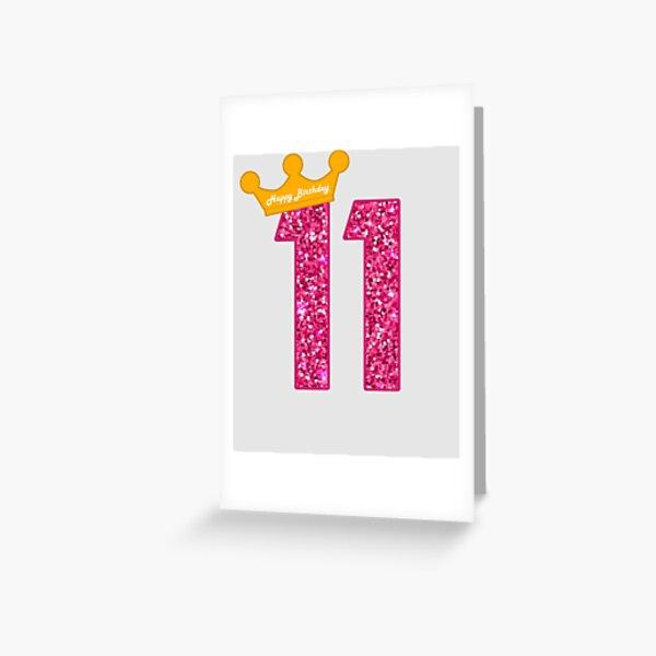 BRILLIANT COLOURFUL 11 TODAY HAPPY BIRTHDAY 11TH BIRTHDAY GREETING CARD