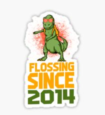 Flossing since 2014 Dinosaur gift Sticker