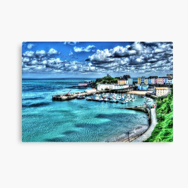 Tenby Harbour Painterly Canvas Print