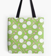 Scattered Golf Balls and Tees Tote Bag