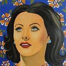 « Hedy Lamarr Art Painting » par Marie-Armelle Borel