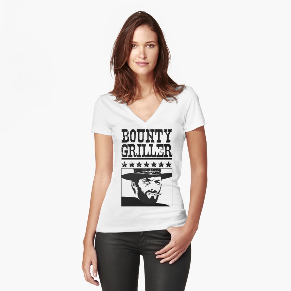 Bounty Griller BBQ Pit-Master  Fitted V-Neck T-Shirt