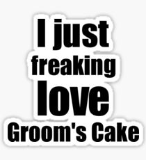 Groom's Cake Lover Gift I Love Dessert Funny Foodie Sticker