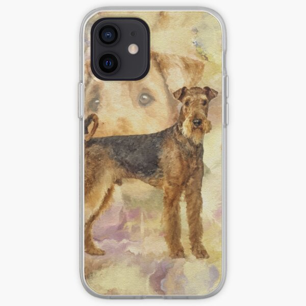Airedale Terriers Mixed Media Digital art iPhone Soft Case
