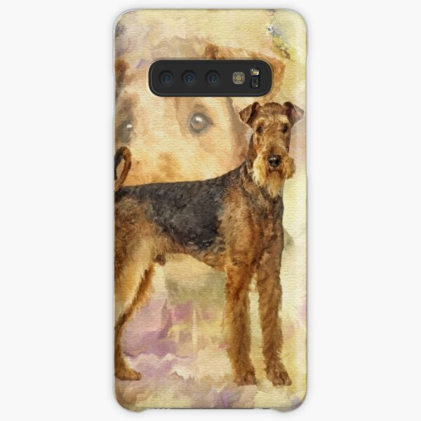 Airedale Terriers Mixed Media Digital art Samsung Galaxy Snap Case