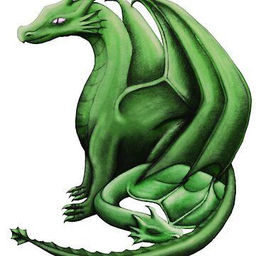 Green Dragon Family by shaneisadragon