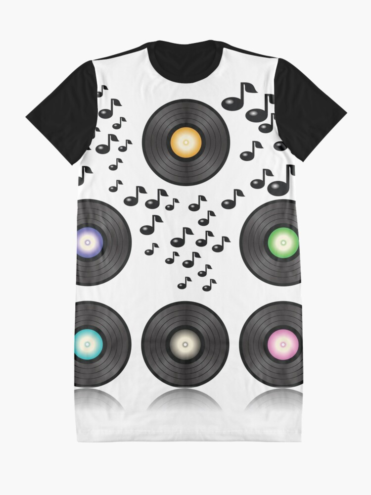 Alternate view of vinyl records Graphic T-Shirt Dress