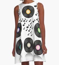 vinyl records A-Line Dress