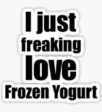 Frozen Yogurt Lover Gift I Love Dessert Funny Foodie Sticker