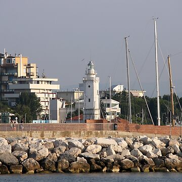 lighthouse Rimini Italy summer season by goceris
