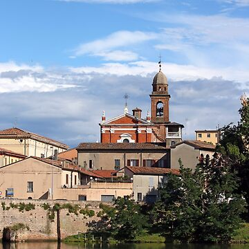 old church and buildings Rimini Italy by goceris