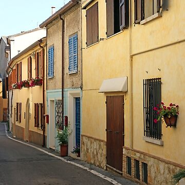 old houses street Rimini Italy summer season by goceris