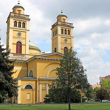 The Cathedral basilica of Eger Hungary landmark by goceris