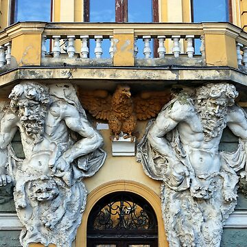 old building detail with sculptures by goceris