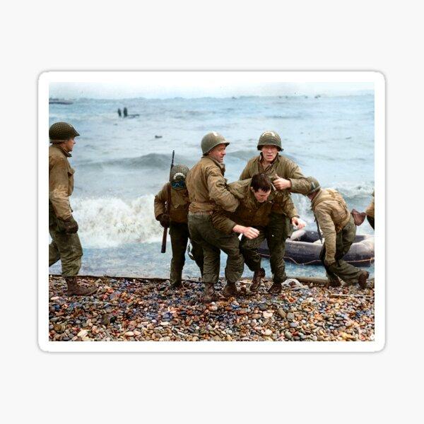 Omaha Beach landing - D Day Sticker