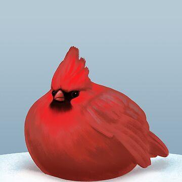 After Christmas Cardinal. by ikerpazstudio