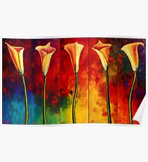 Calla Lilies Glow Poster