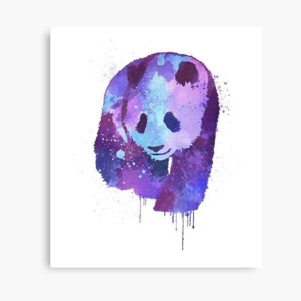 Purple Watercolor Panda Design | Gift for Panda Lovers  Canvas Print