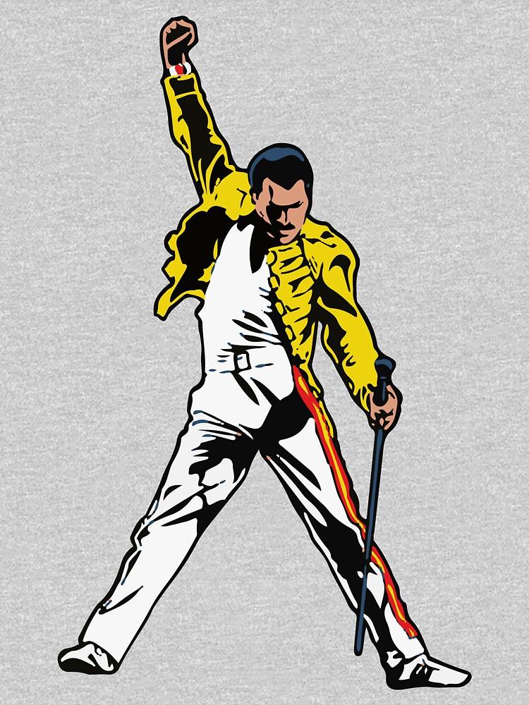 Mr Mercury Iconic Pose, Obras de arte inolvidables, camisetas, pósters, estampados, hombres, mujeres, niños de clothorama