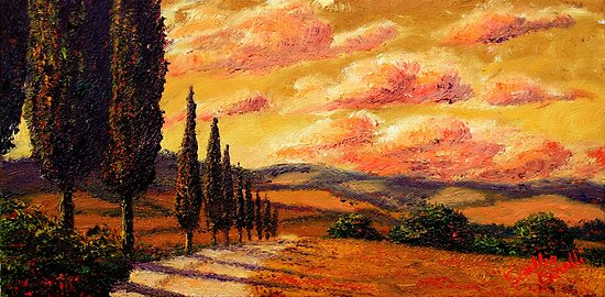 Tuscany Cypress Road by sesillie