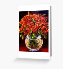 Roses in a Vase Greeting Card