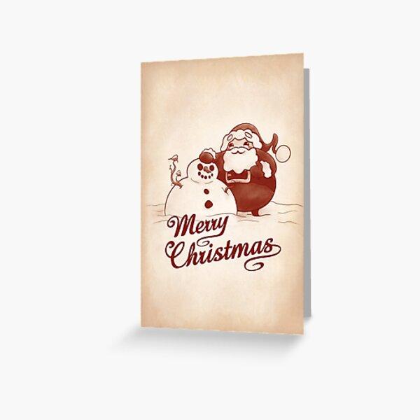 Santa's Snowman Greeting Card