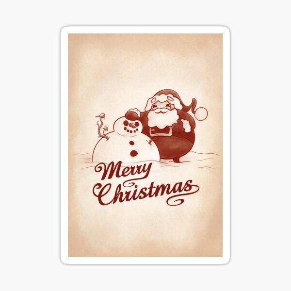 Santa's Snowman Sticker