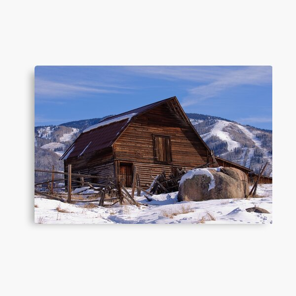 Steamboat Barn, Daytime Icon Canvas Print