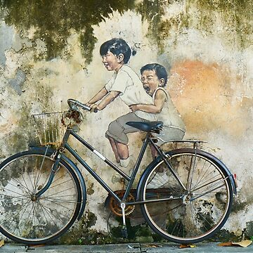 Children on bicycle by Merius