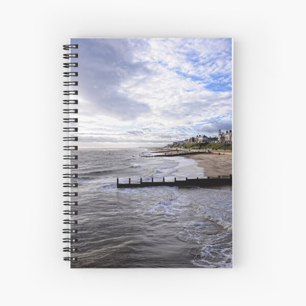 Boxing day at Southwold. Spiral Notebook