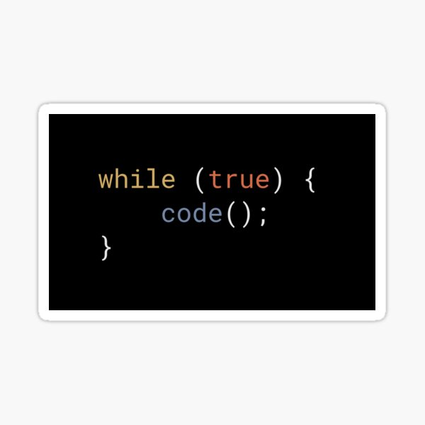 JavaScript - While True Code Sticker